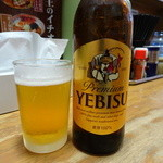 弟子屈ラーメン - エビスビール(400円)