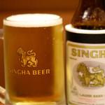 タイ料理 アジアンダイニング ワルンプアン サタニー - シンハービール