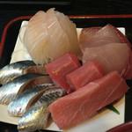 あげは - 中トロ、〆め真鰯、ブリ、脂の乗った白身魚