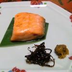 広瀬館 - 朝食:鮭の味噌漬け