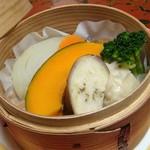 広瀬館 - 朝食:野菜せいろ蒸し