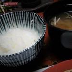広瀬館 - 御飯 味噌汁
