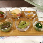 51572650 - 前菜「夏の涼菜の六種盛り」