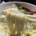 麺のようじ - 鶏塩らーめん(780円)麺リフト