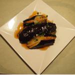牡蠣三味 - 茄子のはさみあげ