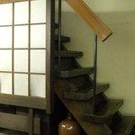 土蔵蕎麦 - 土蔵そば・中2階からの階段
