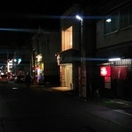 しぶたに - しぶたに@中央弘前駅 お店(右の赤いのれん)の前の通り