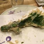 天ぷら てんかつ - ウドも香り良い