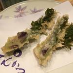 天ぷら てんかつ - たらの芽。おいっしーーー