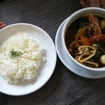スープカレー シュガー - 海の恵¥1080+辛さ=さつき¥50