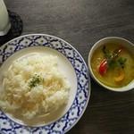 スープカレー シュガー - グリーンカレー¥880(辛さは選べず(T-T))
