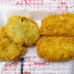 服部精肉店 - 料理写真:手作り山芋和風コロッケ、米粉クリームコロッケ