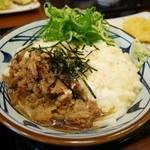 丸亀製麺 - 麦とろ牛ぶっかけ(並)¥590