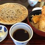 51592161 - 海老天丼そばセット 1330円