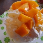 雪みるく - マンゴー&レアチーズのオレンジシロップ