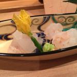 壽山 - ボタンエビのあらい&ウマヅラ