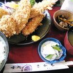 喰処 さか本 - ミックスフライ定食