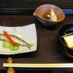 516315 - お昼の今カセコース.....旬の彩り小鉢 3品(週変わり)