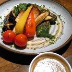 港居酒屋 トレジャーハウス - 揚げ野菜のバーニャカウダ