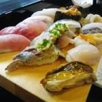 魚河岸寿司 - 握り松1.5人前¥1620