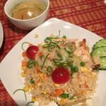 ヤム.タイ - カオ.パット.クンとスープ