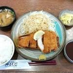 とんかつ山本 - ロースとんかつ定食(150g)1,400円(税込)