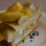 カフェ コム サ - マンゴーの和風なケーキ