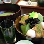 茶菓きみくら - 抹茶づくしセット ¥852