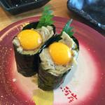 回転寿司 魚河岸 - カニ味噌うずら