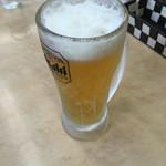 餃子の王将 - 生ビールです。