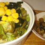 51615208 - 定食のサラダ、漬物