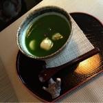つぶらカフェ - 抹茶白玉ぜんざい.¥700. ※冷