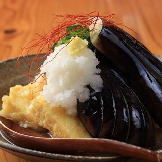 ナスと揚げだし豆腐(500円)