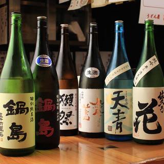 こだわりの日本酒(650円~850円)