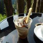 カフェレストラン美富士屋 - とっても美味しいエスプレッソかけソフト