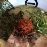 博多拉麺 KAZU - 白とんこつ+肉辛みそトッピング