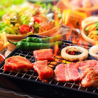 4種のお肉食べ放題!豪華でおしゃれなBBQプラン3980円~