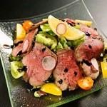 鉄板焼 GAGNER - ロースト牛タンのサラダ