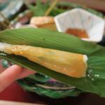51632777 - チマキ寿司 カワハギ(2016年5月ディナー)