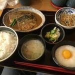 おふくろの味 3・5食堂 - サバ味噌煮定食780円