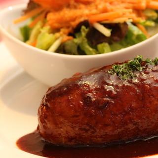 桜島美湯豚×合鴨の合挽きハンバーグ