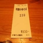 勝本 - 食券の半券