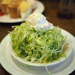 自家焙煎 珈琲屋 ドリーム - グリーンサラダ、ポテトサラダトッピング