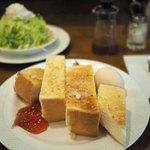 自家焙煎 珈琲屋 ドリーム - 厚切りトースト