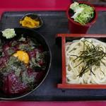 権八 - まぐろの漬け丼セット(900円)