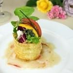 レストラン 西本 - 料理写真:18種野菜と鮮魚のカルパッチョ