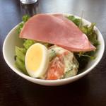 Nikusakabajuraku - ステーキセットのサラダです