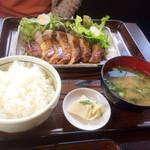 Nikusakabajuraku - とんてき定食1300円