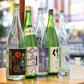 日本酒はなんと常時約50種類以上!