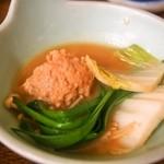 すき焼・鍋物 なべや - 鶏みんち鍋(みそ味)